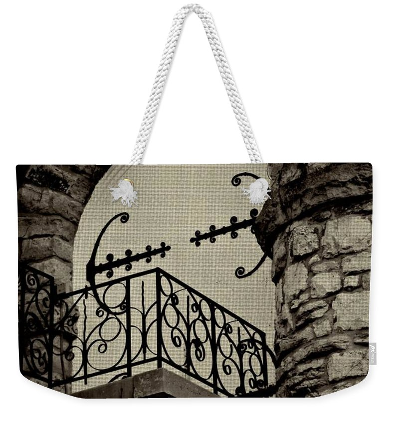 Architecture Weekender Tote Bag featuring the photograph The Balcony by Chris Berry