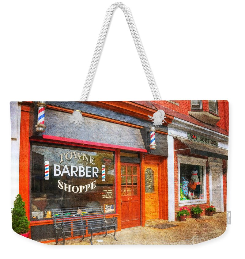 The Barber Shop Weekender Tote Bag featuring the photograph The Barber Shop by Paul Ward