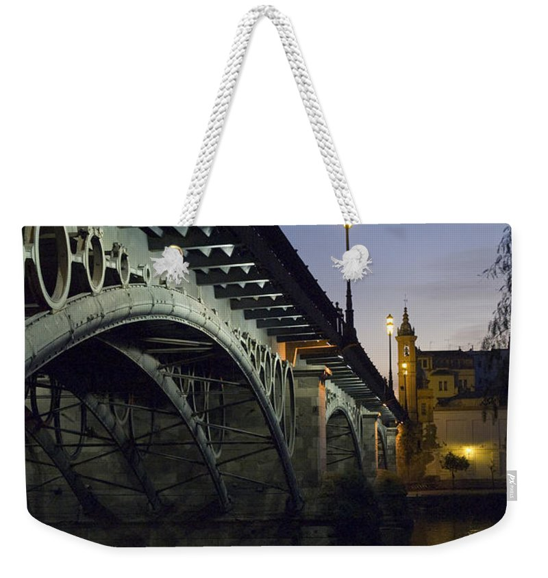 Spain Weekender Tote Bag featuring the photograph The Bridge Of Triana, Puente De Triana by Krista Rossow