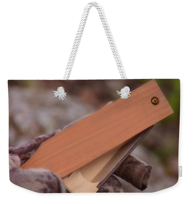 Donna Weekender Tote Bag featuring the photograph The Call by Donna Greene