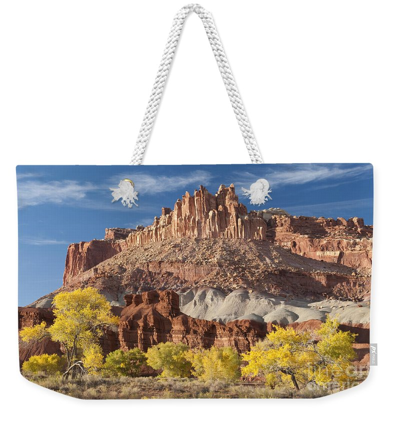Bronstein Weekender Tote Bag featuring the photograph The Castle by Sandra Bronstein