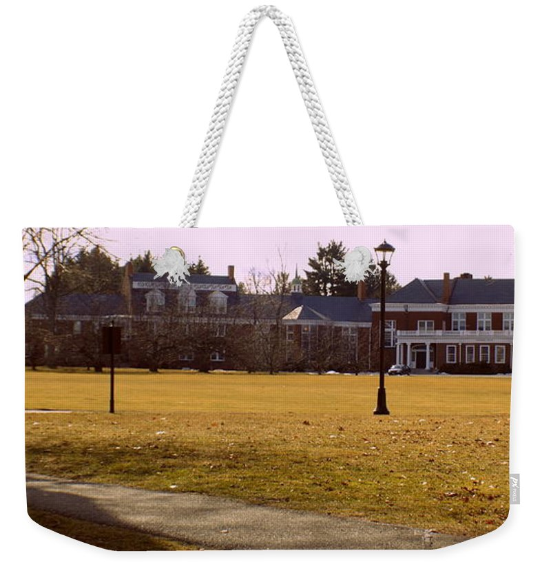 Groton School Weekender Tote Bag featuring the photograph The Circle by Marysue Ryan