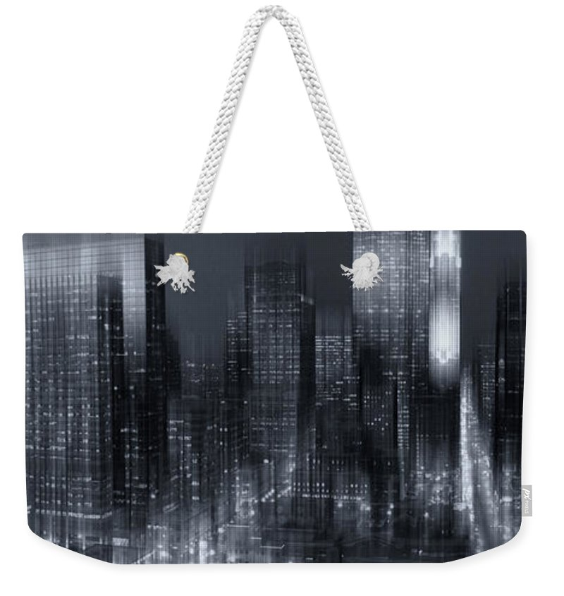 Minneapolis Weekender Tote Bag featuring the photograph The City Comes Alive At Night by Angela King-Jones