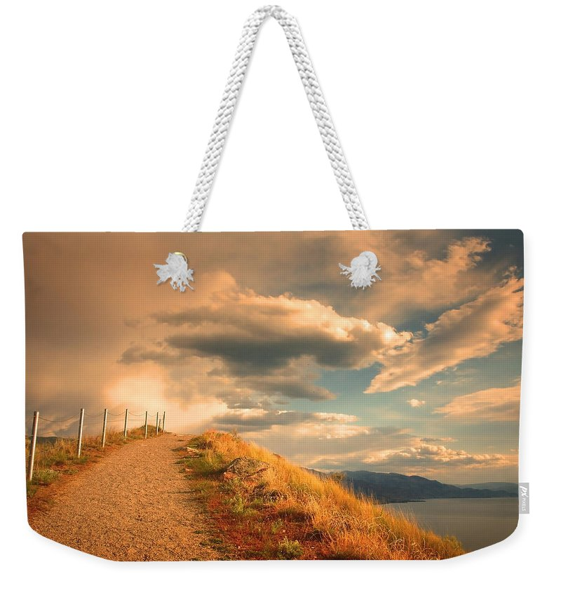 Clouds Weekender Tote Bag featuring the photograph The Cloud Path by Tara Turner
