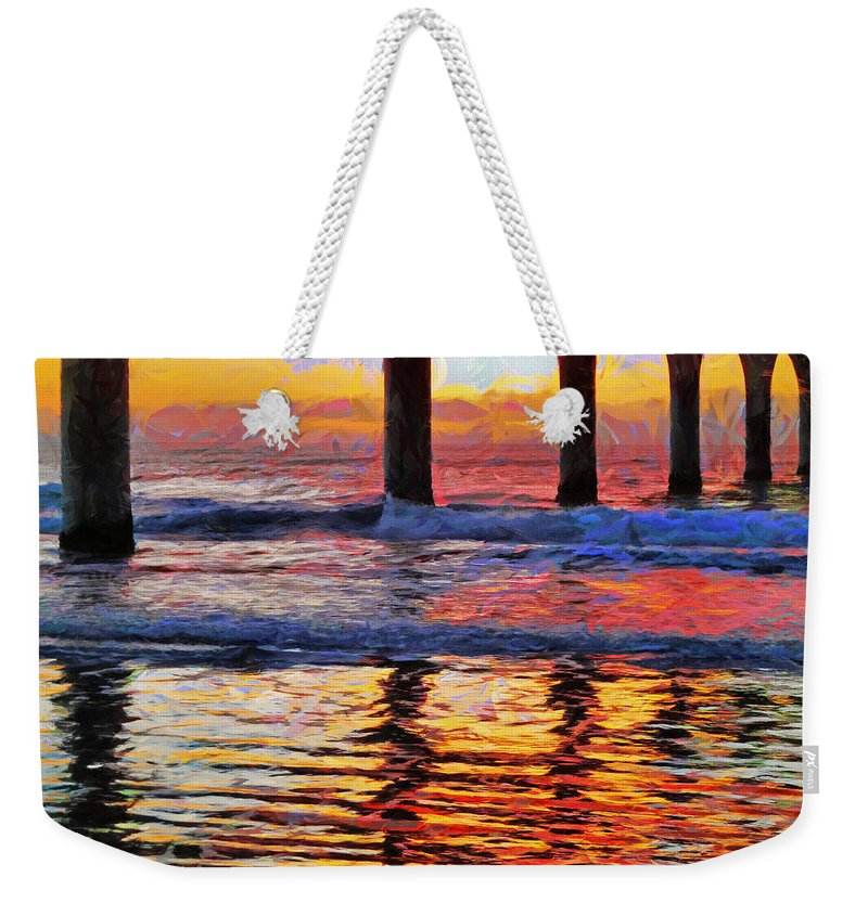 Multicolour Weekender Tote Bag featuring the photograph The Colours Of Dawn by Steve Taylor