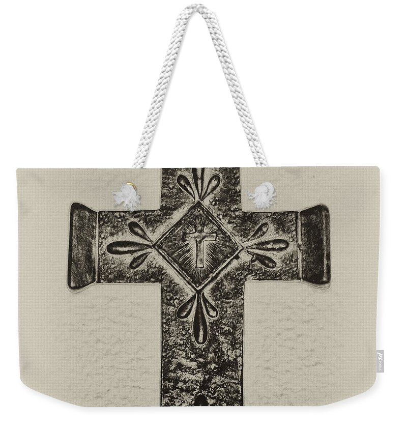 Cross Weekender Tote Bag featuring the photograph The Cross by Bill Cannon