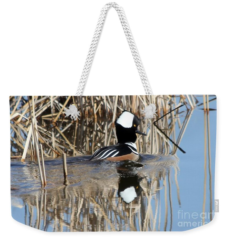 Hodded Weekender Tote Bag featuring the photograph The Dance by Lori Tordsen