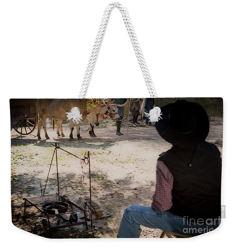 Washington On The Brazos Weekender Tote Bag featuring the photograph The Day Liberty And Justice Came Into Camp by Kim Henderson