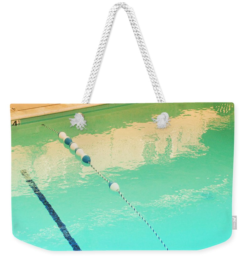 Pool Weekender Tote Bag featuring the photograph The Deep End by Kathleen Grace