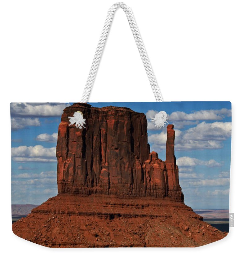 Monument Weekender Tote Bag featuring the photograph The East Mitten Butte by David Pringle