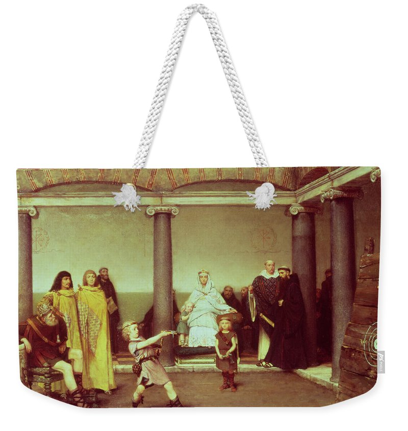 The Weekender Tote Bag featuring the painting The Education Of The Children Of Clothilde And Clovis by Sir Lawrence Alma-Tadema