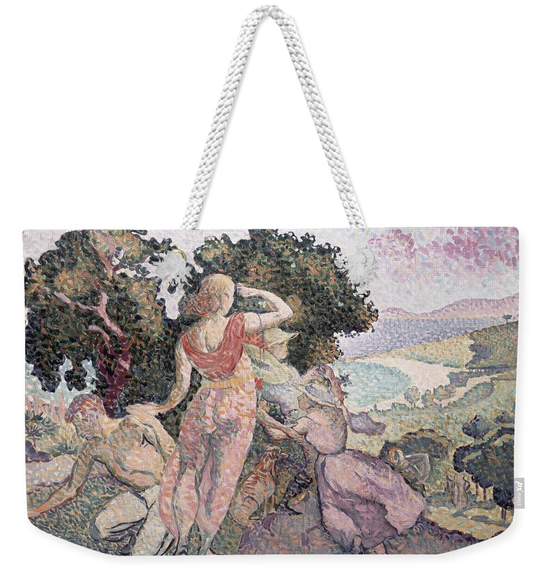 The Excursionists Weekender Tote Bag featuring the painting The Excursionists by Henri-Edmond Cross