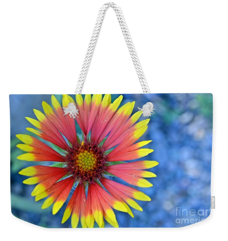 Flower Weekender Tote Bag featuring the photograph The Extrovert by Tara Turner
