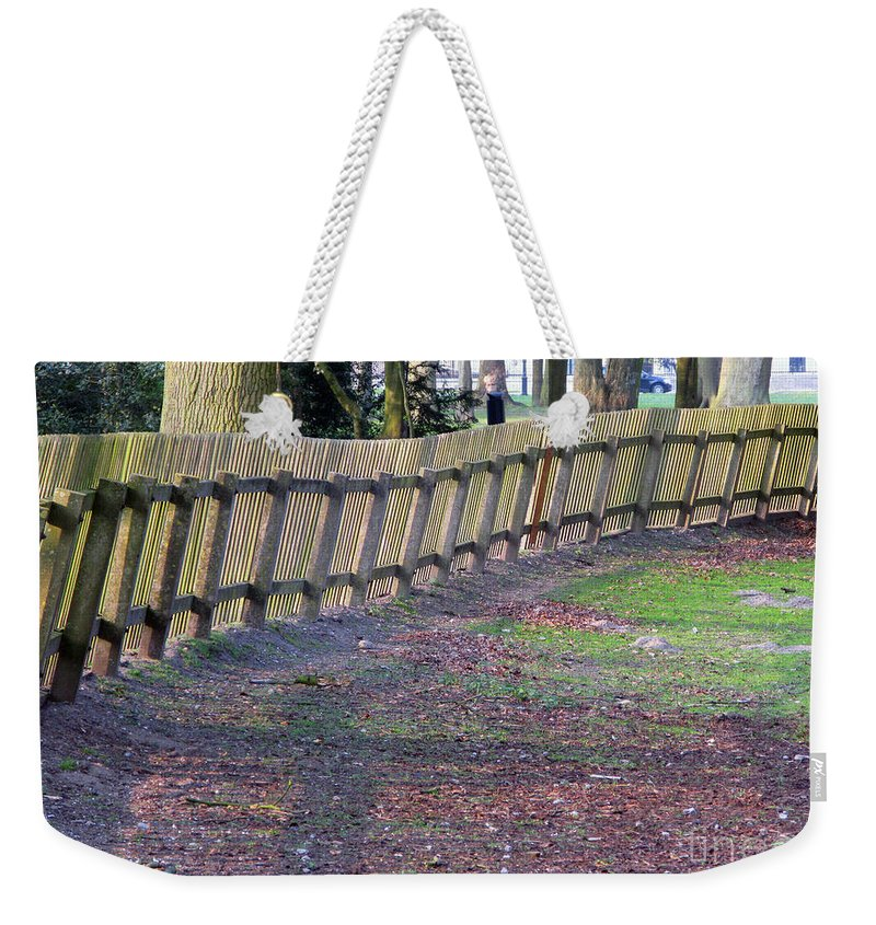 Spring Weekender Tote Bag featuring the photograph The Fence by Ausra Huntington nee Paulauskaite