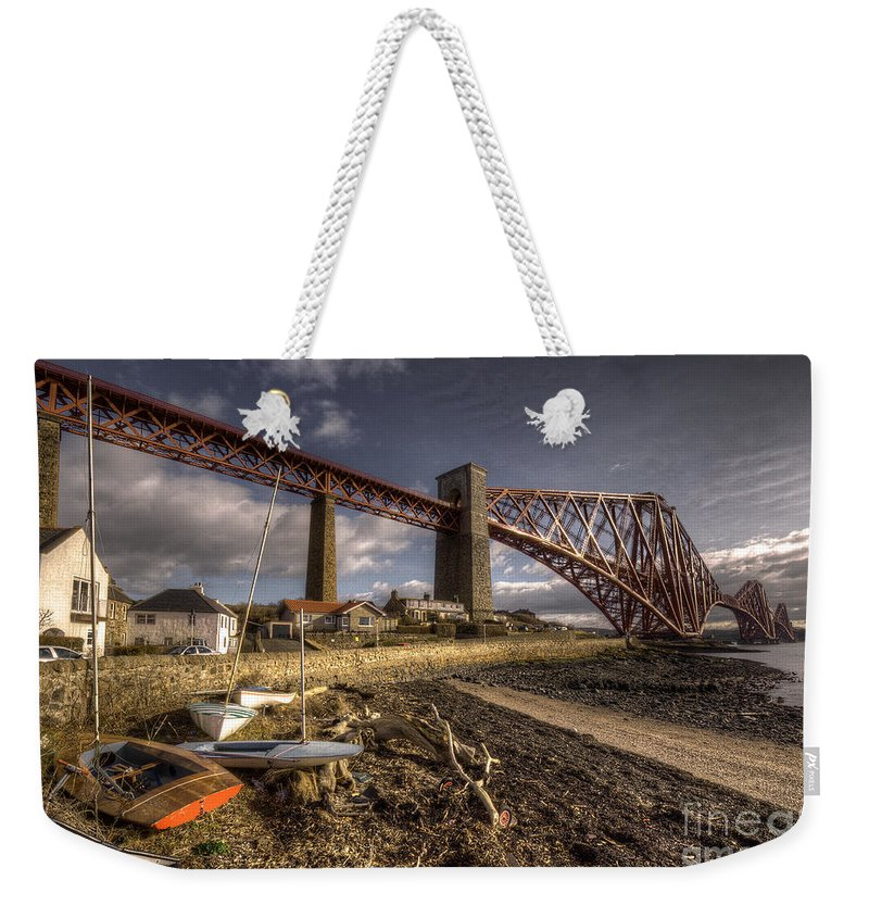 Forth Bridge Weekender Tote Bag featuring the photograph The Forth Rail Bridge by Rob Hawkins