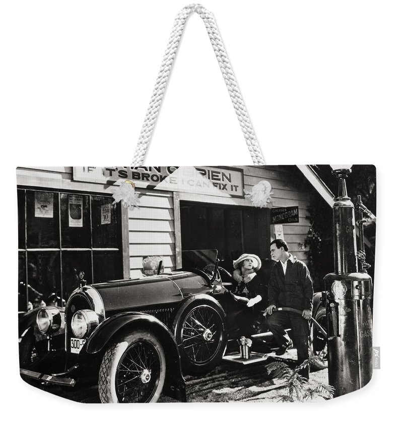 -transportation: Automobiles- Weekender Tote Bag featuring the photograph The Fourth Musketeer, 1923 by Granger