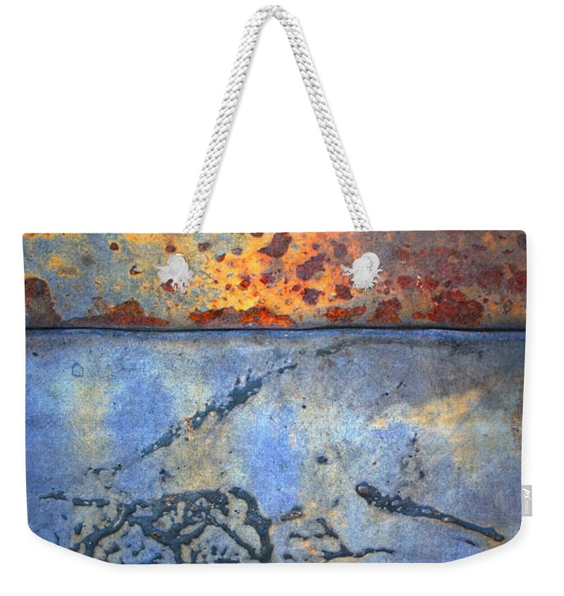 Texture Weekender Tote Bag featuring the photograph The Garbage Can by Tara Turner