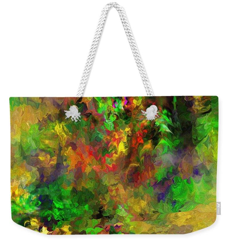 Fine Art Weekender Tote Bag featuring the digital art The Garden by David Lane