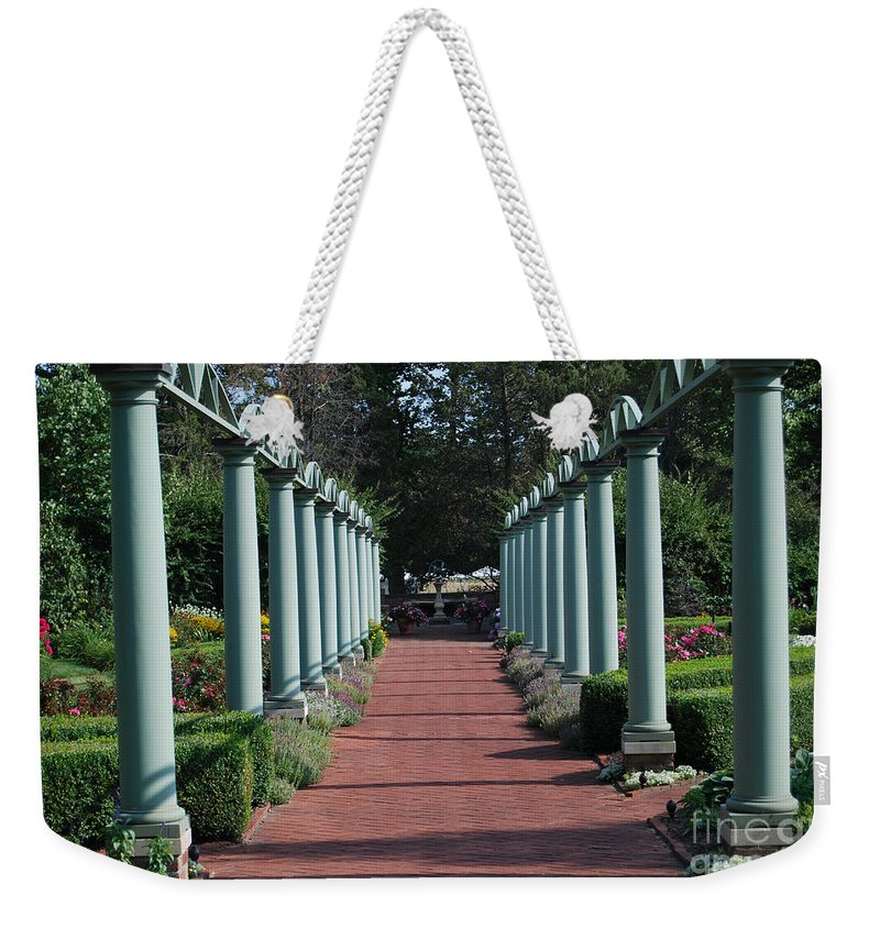 Garden Walk Weekender Tote Bag featuring the photograph The Garden Walk by Grace Grogan