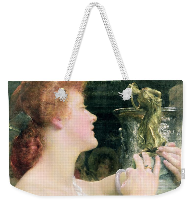 Golden Weekender Tote Bag featuring the painting The Golden Hour by Sir Lawrence Alma-Tadema
