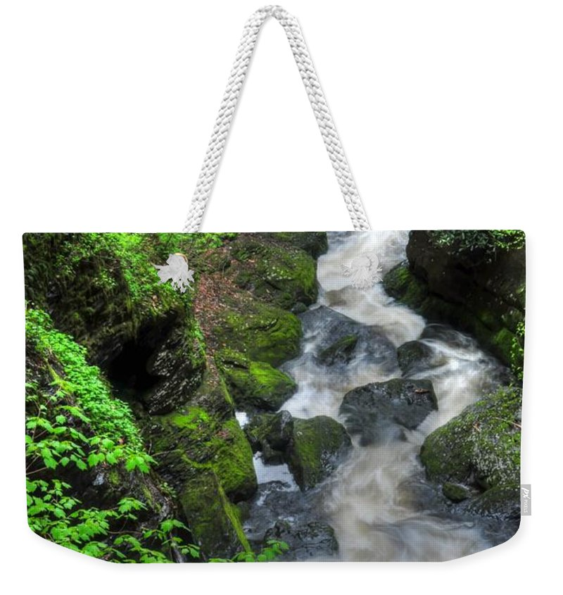 Waterfalls Weekender Tote Bag featuring the photograph The Gorge by Paul Ward