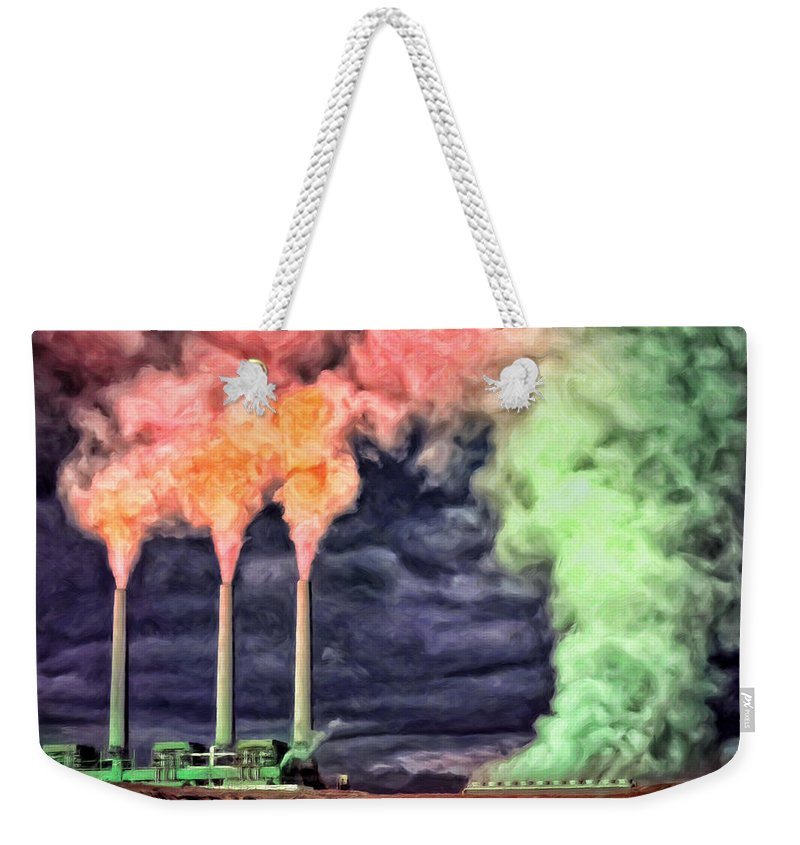 Power Plant Weekender Tote Bag featuring the painting The Graveyard Shift by Dominic Piperata