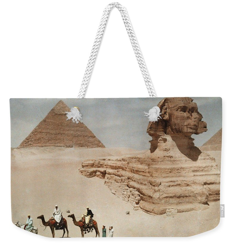 Day Weekender Tote Bag featuring the photograph The Great Sphinx And The Second, Or by Hans Hildenbrand