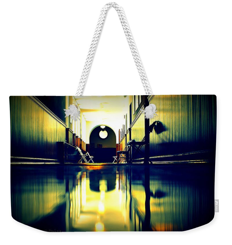 Groton School Weekender Tote Bag featuring the photograph The Hallway by Marysue Ryan