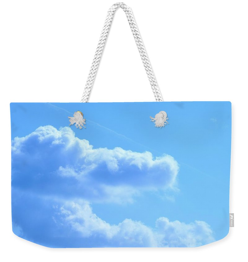 Hand Weekender Tote Bag featuring the photograph The Hand Of God by Maria Urso