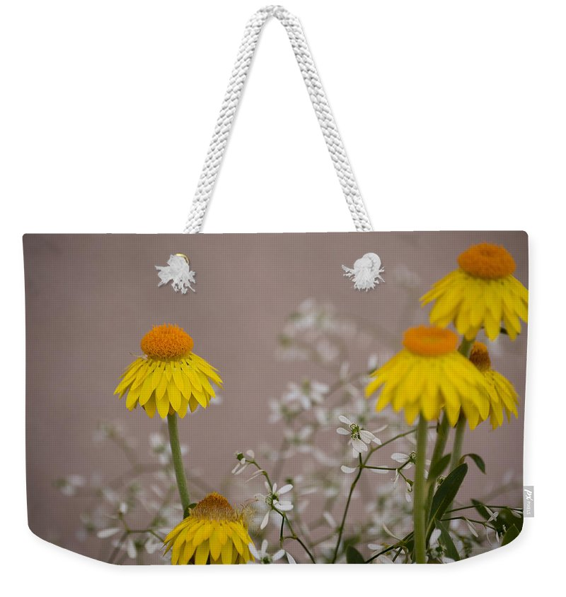 Flower Weekender Tote Bag featuring the photograph The Heart Of The Matter by Trish Tritz
