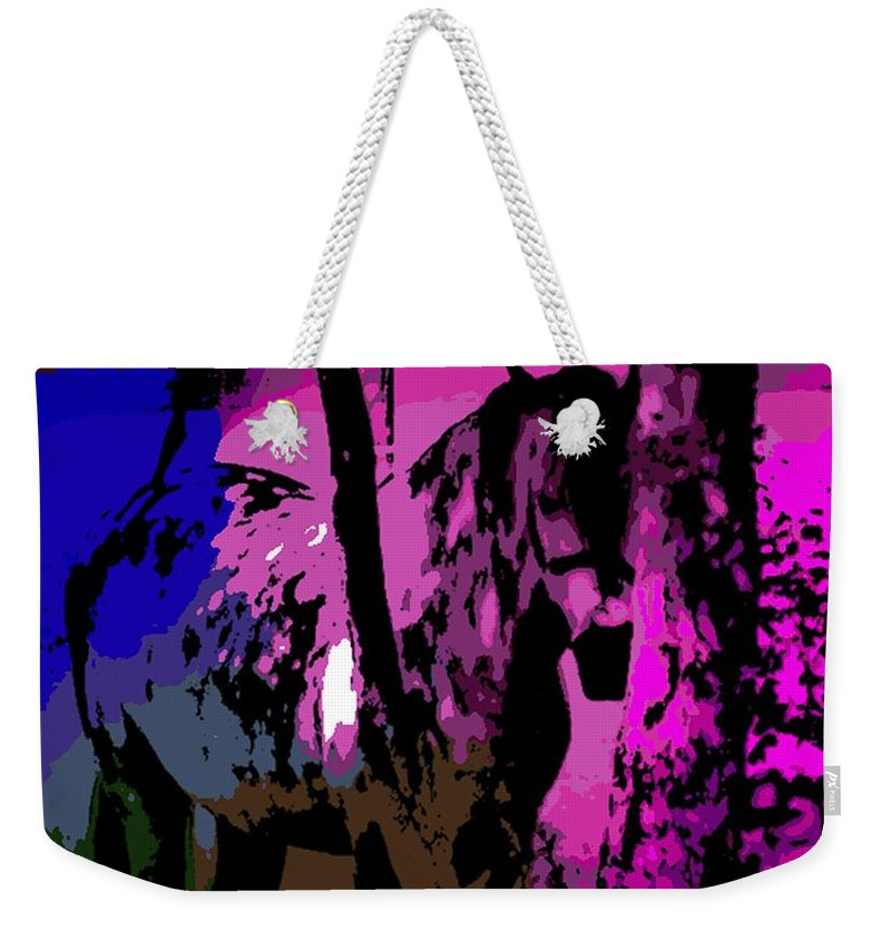 Horse Weekender Tote Bag featuring the photograph the Hidden by George Pedro