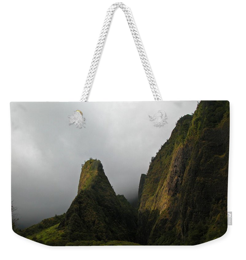 Maui Weekender Tote Bag featuring the photograph The Iao Needle by Lynn Bauer