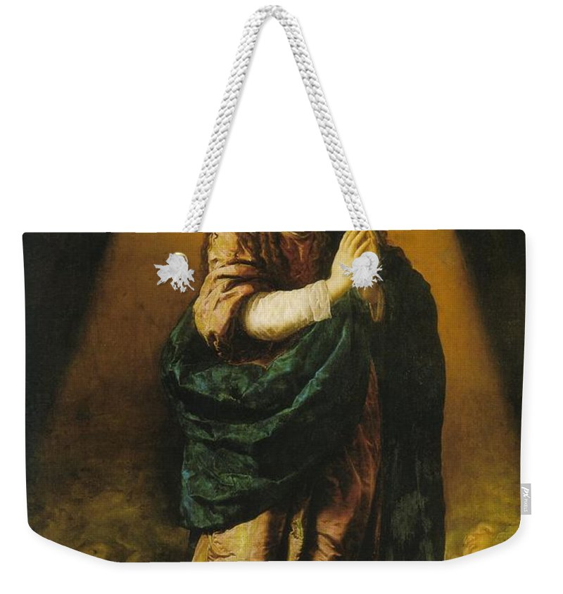 Mary Weekender Tote Bag featuring the photograph The Immaculate Conception by Munir Alawi