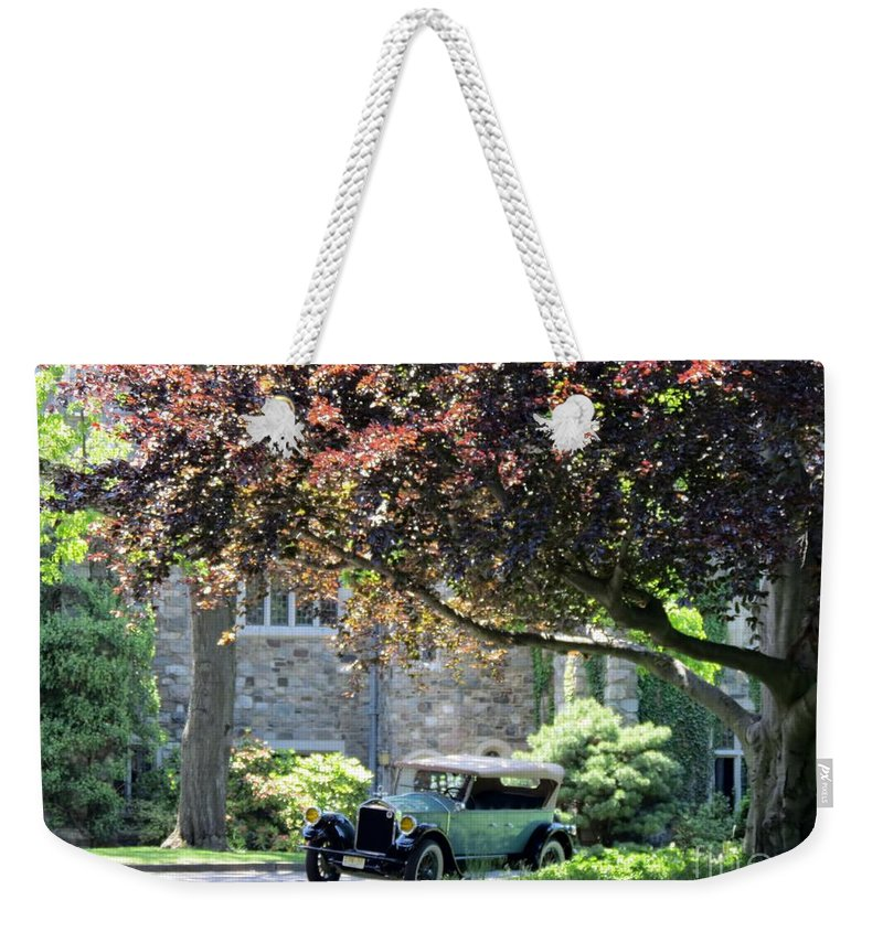 Model Weekender Tote Bag featuring the photograph The Jones' by Art Dingo