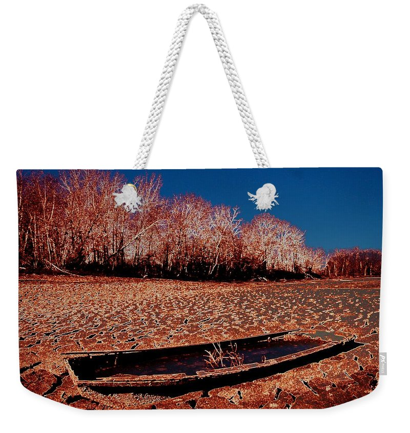 Boat Weekender Tote Bag featuring the photograph The Lake Gives Up Its Secret by J R Seymour