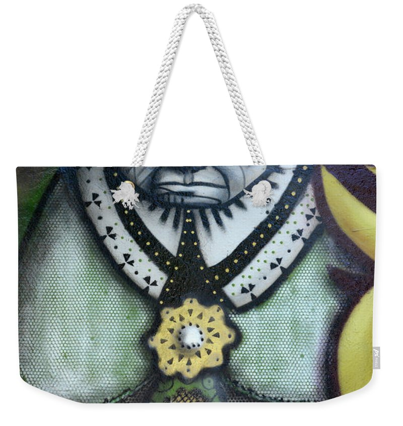 Graffiti Weekender Tote Bag featuring the photograph The Leader by Bob Christopher