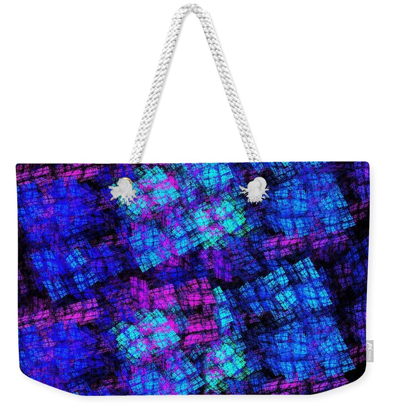 Abstract Weekender Tote Bag featuring the digital art The Lights Are On But No One Is Home by Andee Design