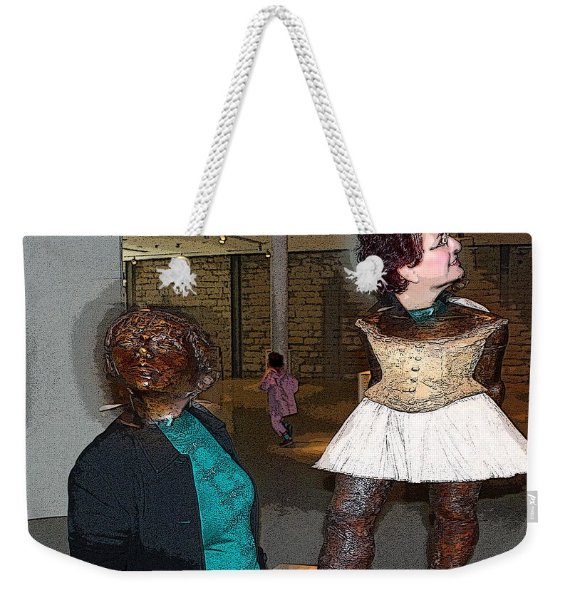 Edgar Degas Weekender Tote Bag featuring the photograph The Little Fourteen Year Old Dancer. Edgar Degas by Augusta Stylianou