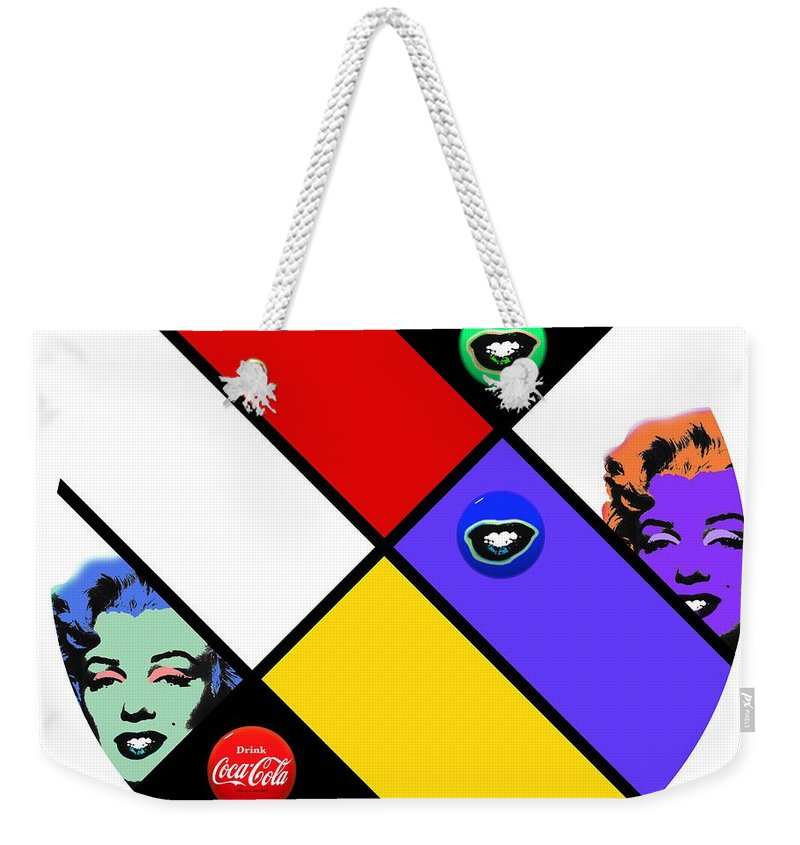 Andy Warhol Weekender Tote Bag featuring the digital art The Little Sister by Charles Stuart