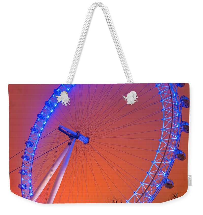 London Weekender Tote Bag featuring the photograph The London Eye by Luciano Mortula