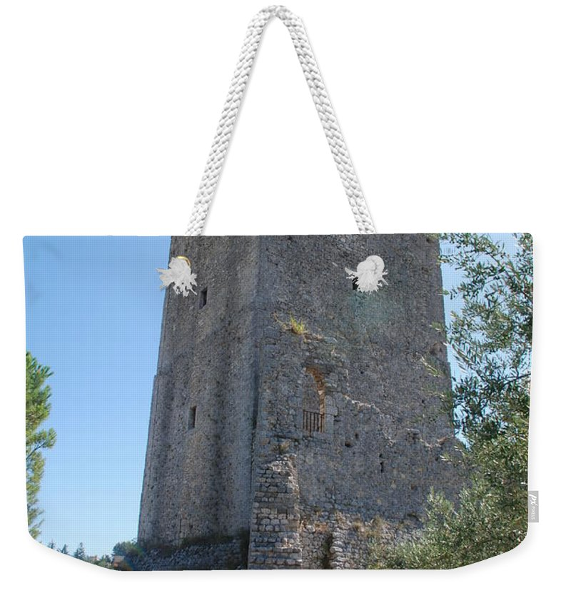 Tower Weekender Tote Bag featuring the photograph The Medieval Tower by Dany Lison