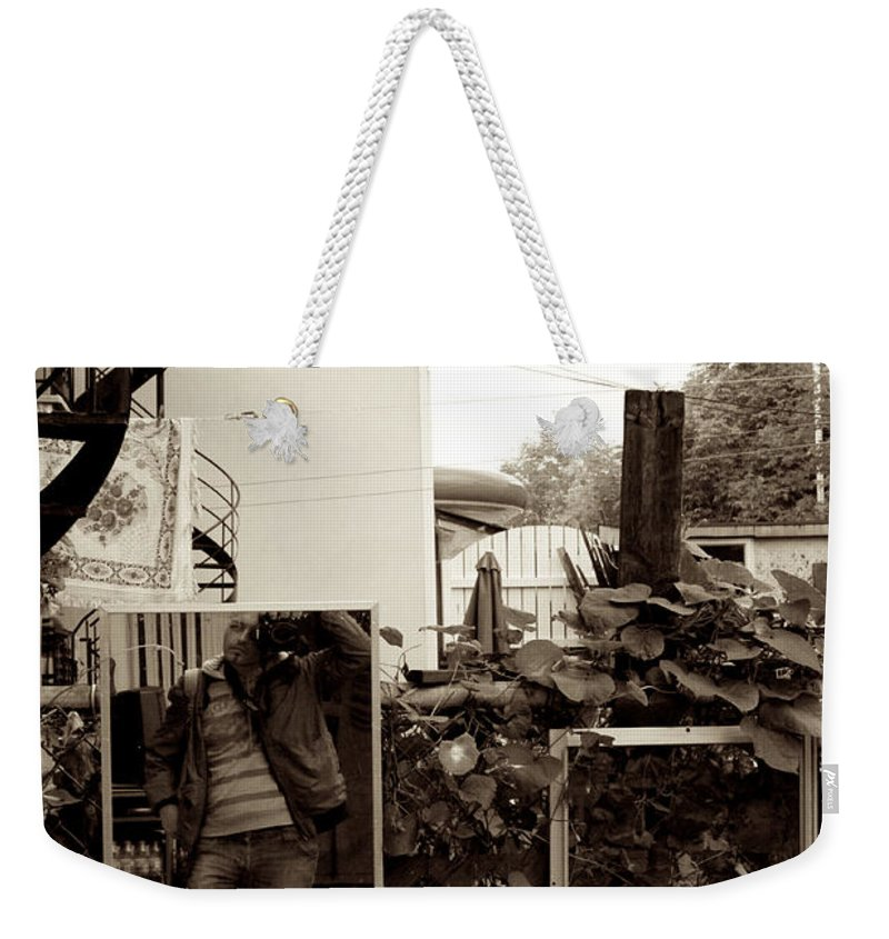 Mess Weekender Tote Bag featuring the photograph The Mess In Me by Donato Iannuzzi