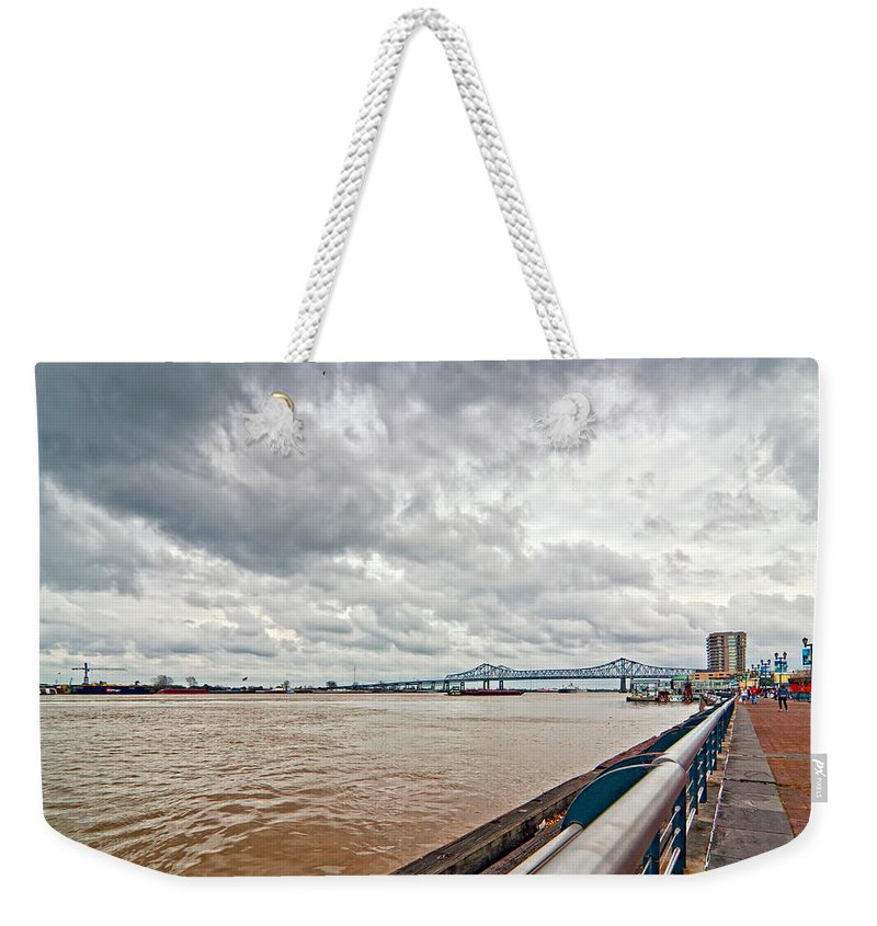 Mississippi River Weekender Tote Bag featuring the photograph The Mighty Miss by Steve Harrington