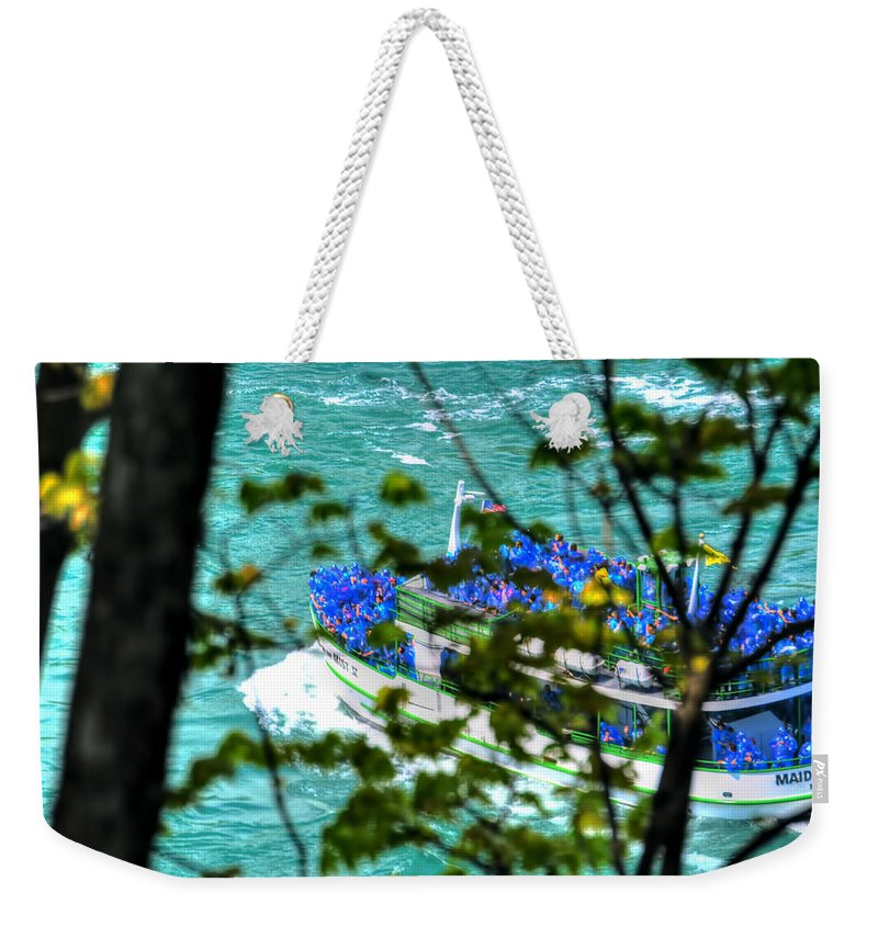 Weekender Tote Bag featuring the photograph The Mist Before The Mist by Michael Frank Jr