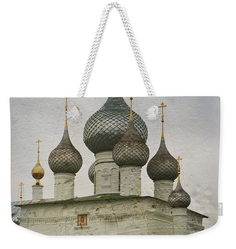 Voskresenski Weekender Tote Bag featuring the photograph The Monastery Of The Resurrection. Uglich Russia by Juli Scalzi