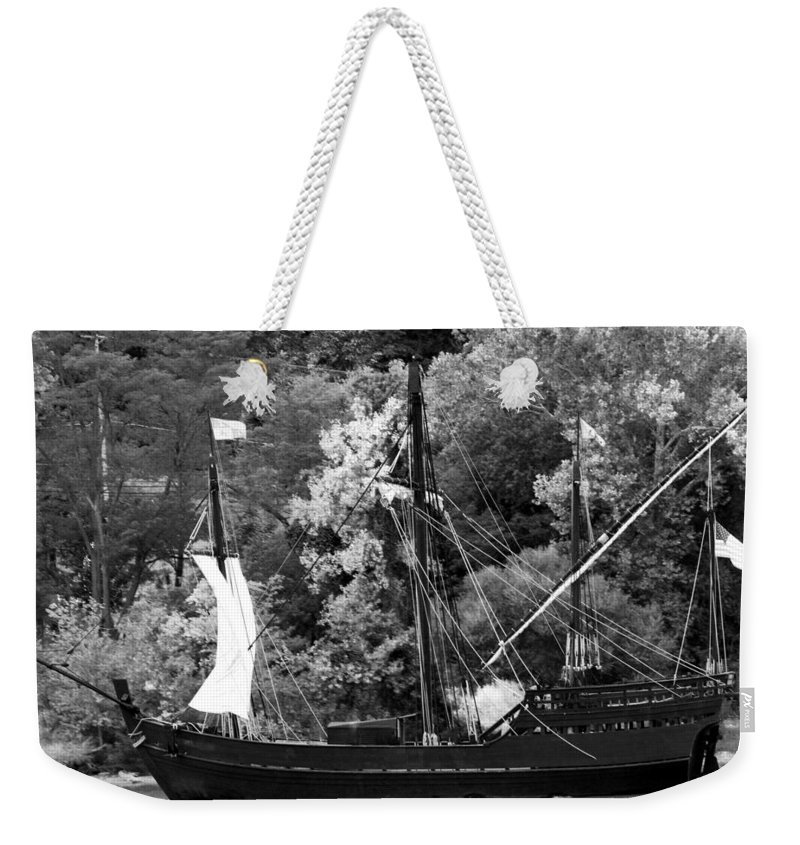 The Nina A Reproduction Of The Original Weekender Tote Bag featuring the photograph The Nina by Randall Branham