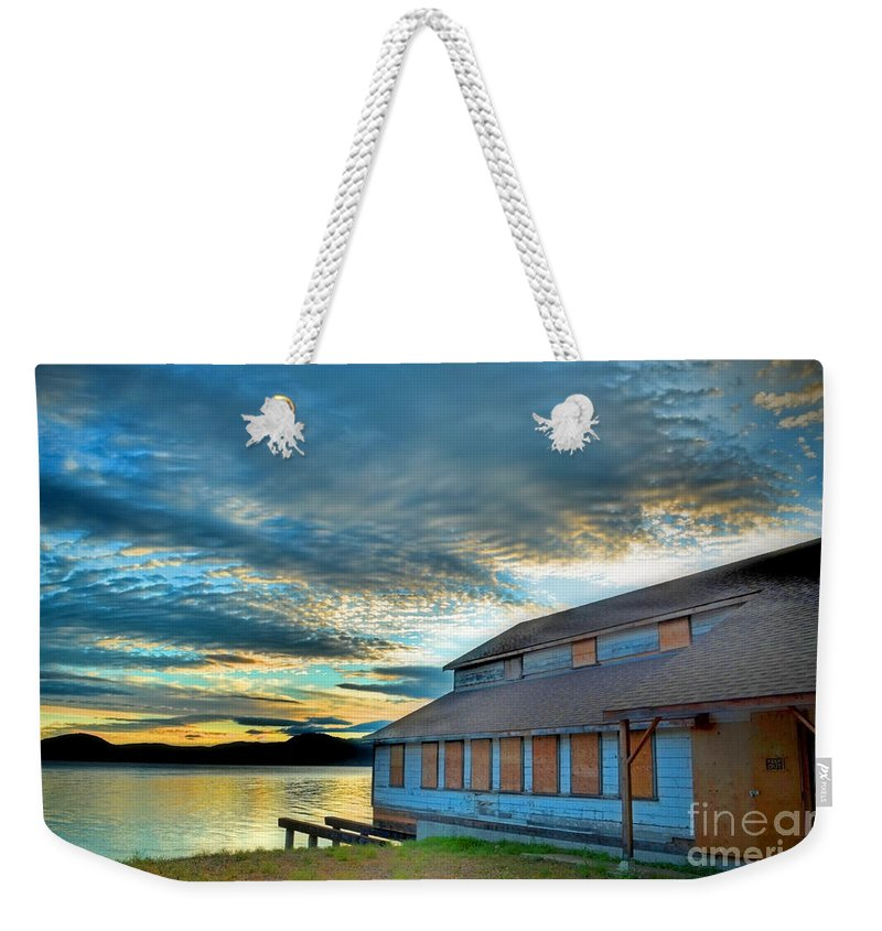 Packing Weekender Tote Bag featuring the photograph The Old Packing House by Tara Turner