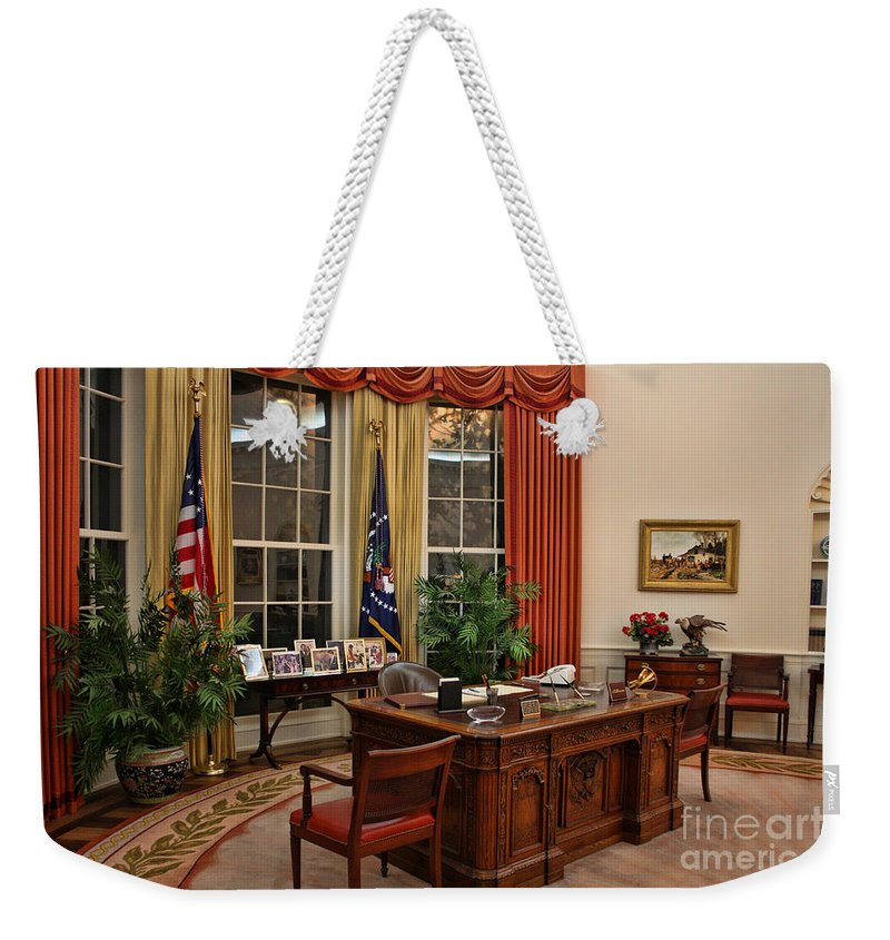 Ronald Reagan Weekender Tote Bag featuring the photograph The Oval Office by Tommy Anderson