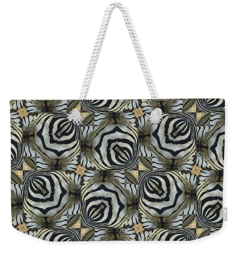 Magissimo Weekender Tote Bag featuring the digital art The Owl And The Zebra by Maria Watt
