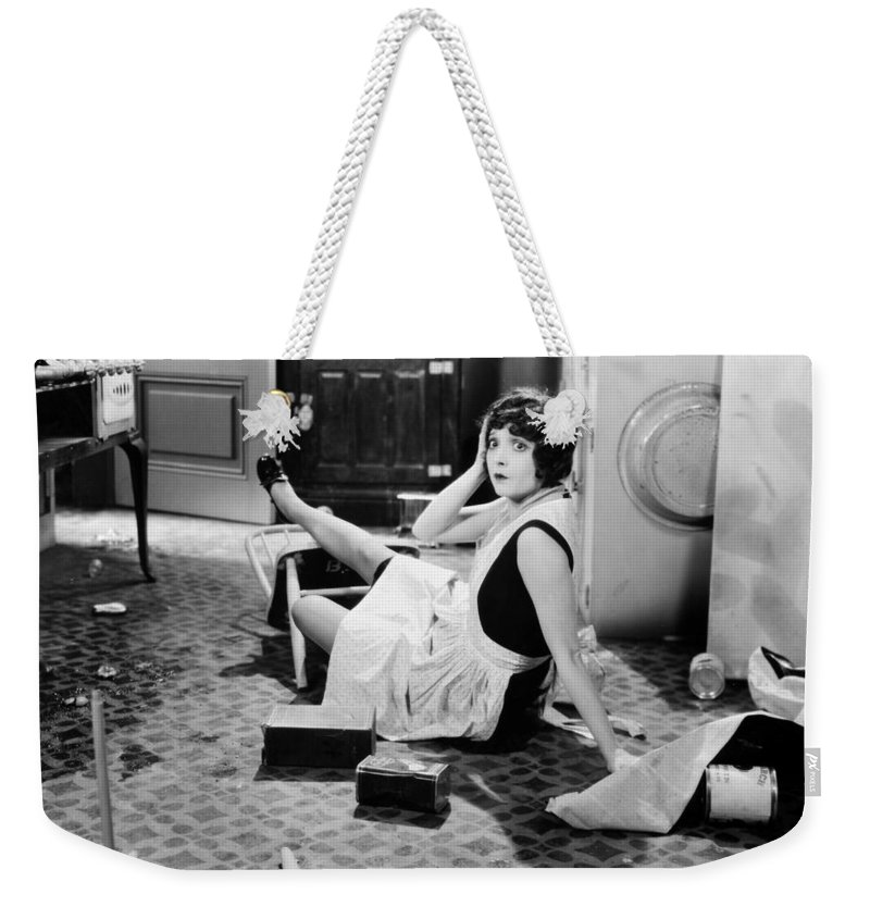-housework & Cooking- Weekender Tote Bag featuring the photograph The Play Girl, 1928 by Granger